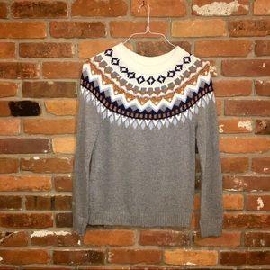 J Crew Far Isle Ski Wool Sweater